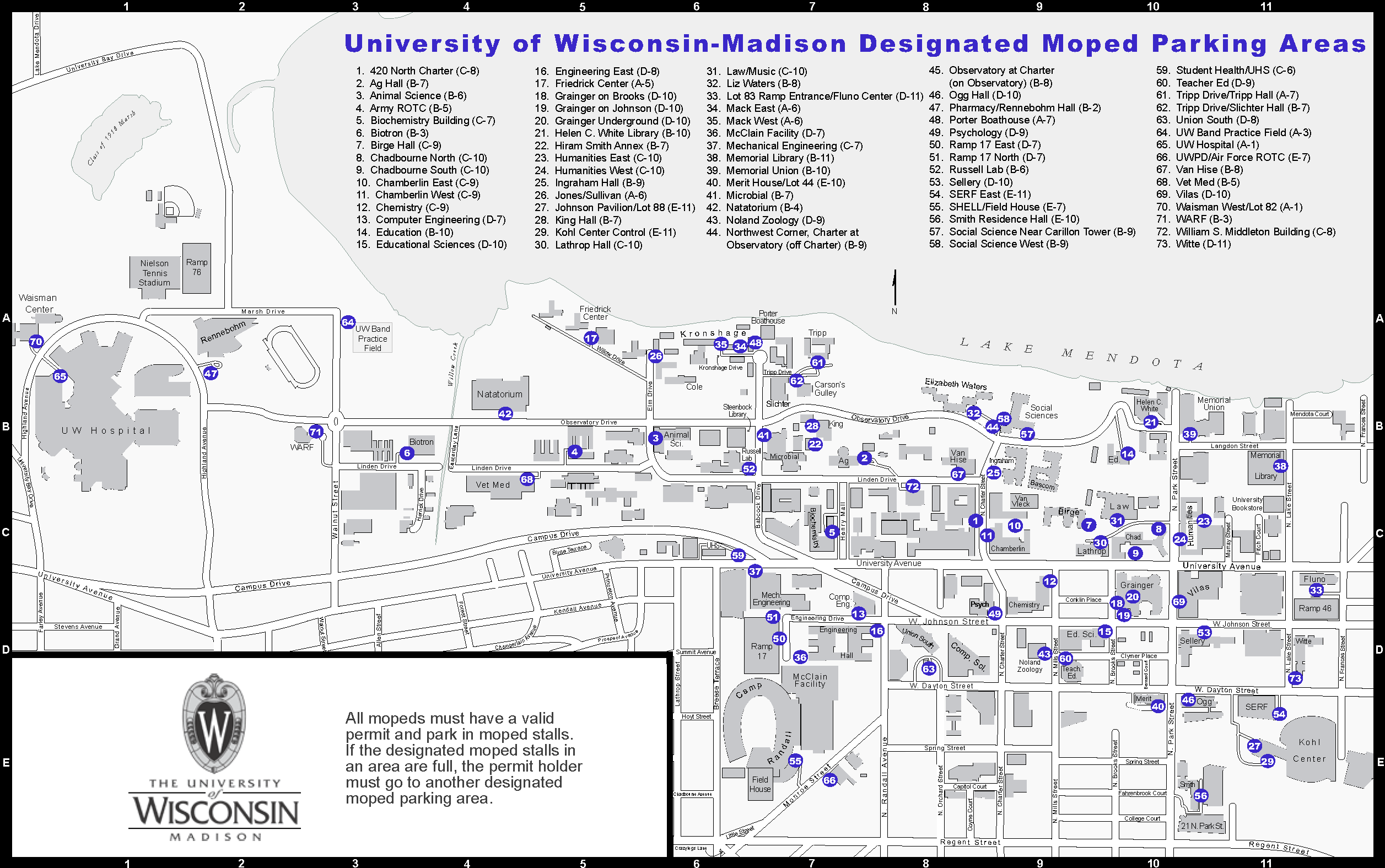 Uw Madison Parking Map Colter Sikora 2008 Moped Parking Map | Colterrific Maps! (a portfolio)