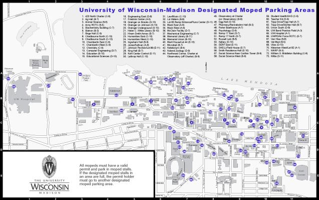 Uw Madison Designated Moped Parking Areas Colterrific