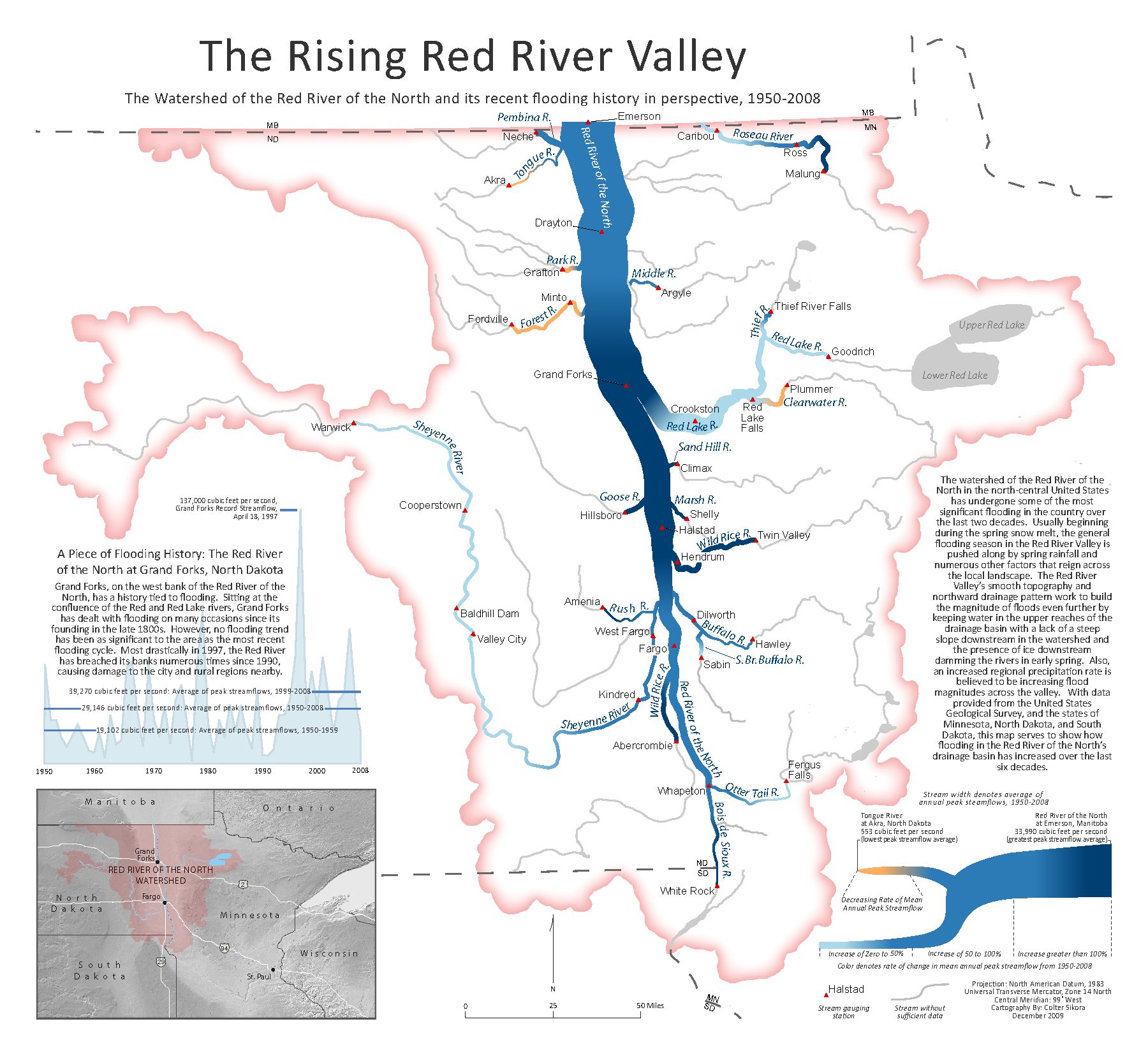 Colter Sikora Red River Valley Flooding Map Colterrific Maps a portfolio