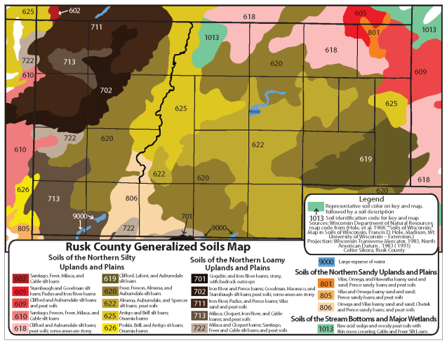 Colter Sikora Rusk County Generalized Soil Map